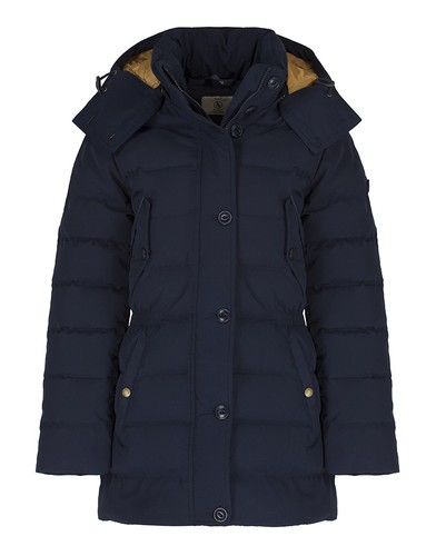 Aigle Women's Skydown Long Padded Down Jacket - Midnight