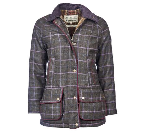 Barbour Ladies Carter Wool Waterproof Coat
