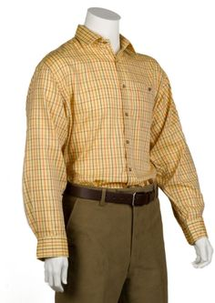 Bonart Carmarthen Gold Check Shooting Shirt