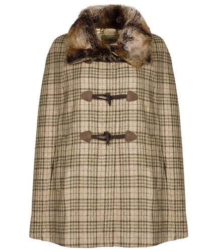 Dubarry Samphire Ladies Tweed Cape- Pebble