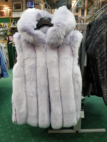 Jayley Faux Fur Hooded Gilet pale purple 12