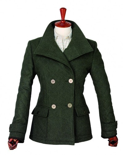 Laksen Lucerne Ladies Loden Coat Green