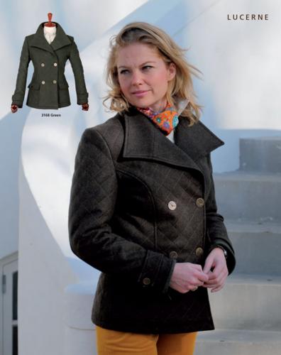 Laksen Lucerne Ladies Loden Coat Green