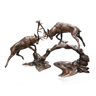 Richard Cooper Bronzes Dawn Contest (Rutting Stags) 963 Limited Edition 150