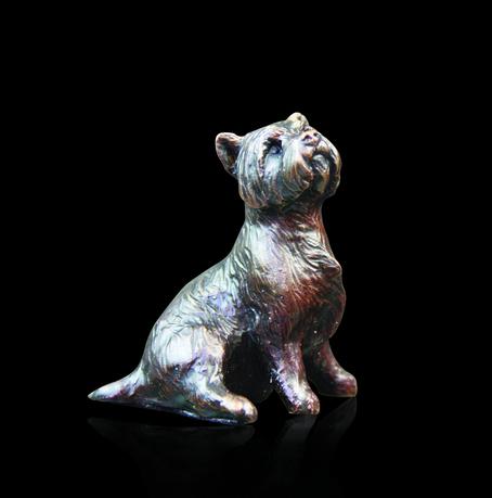 Richard Cooper Bronzes Westie Sitting 804