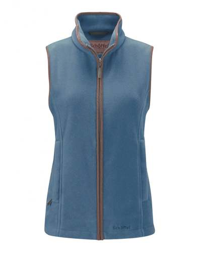 Schoffel Ladies Lyndon Fleece Gilet - Denim