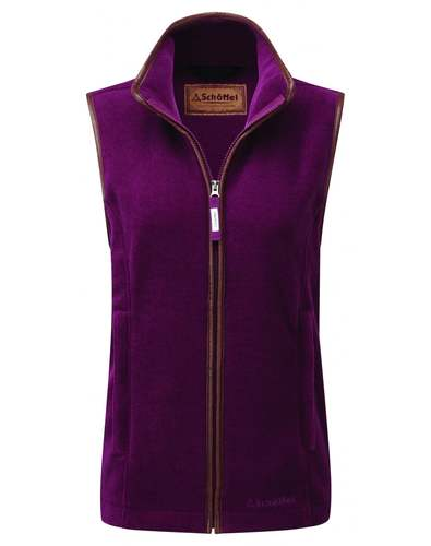 Schoffel Ladies Lyndon Fleece Gilet - Plum