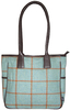More views of Sienna Tweed Tote Handbag Turquoise from easton