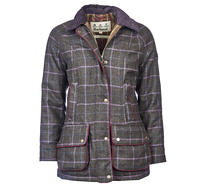 Barbour Carter Wool Waterproof Coat for Ladies in Olive