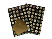 Quality Shooting Cartridge Ends Design Gift Wrap Set 2 sheets and 2 tags 2 sheets and 2 tags