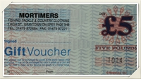 Mortimers £5 Gift Voucher