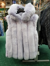 Jayley Faux Fur Hooded Gilet pale purple 12