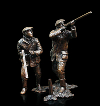 Richard Cooper Bronzes Flightline 566 (2 Shooters)